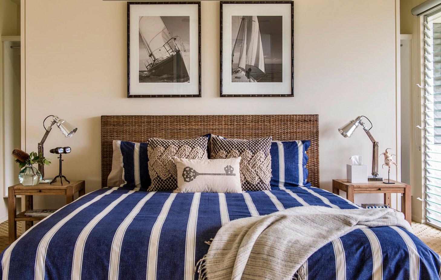 Плетеное изголовье для кровати