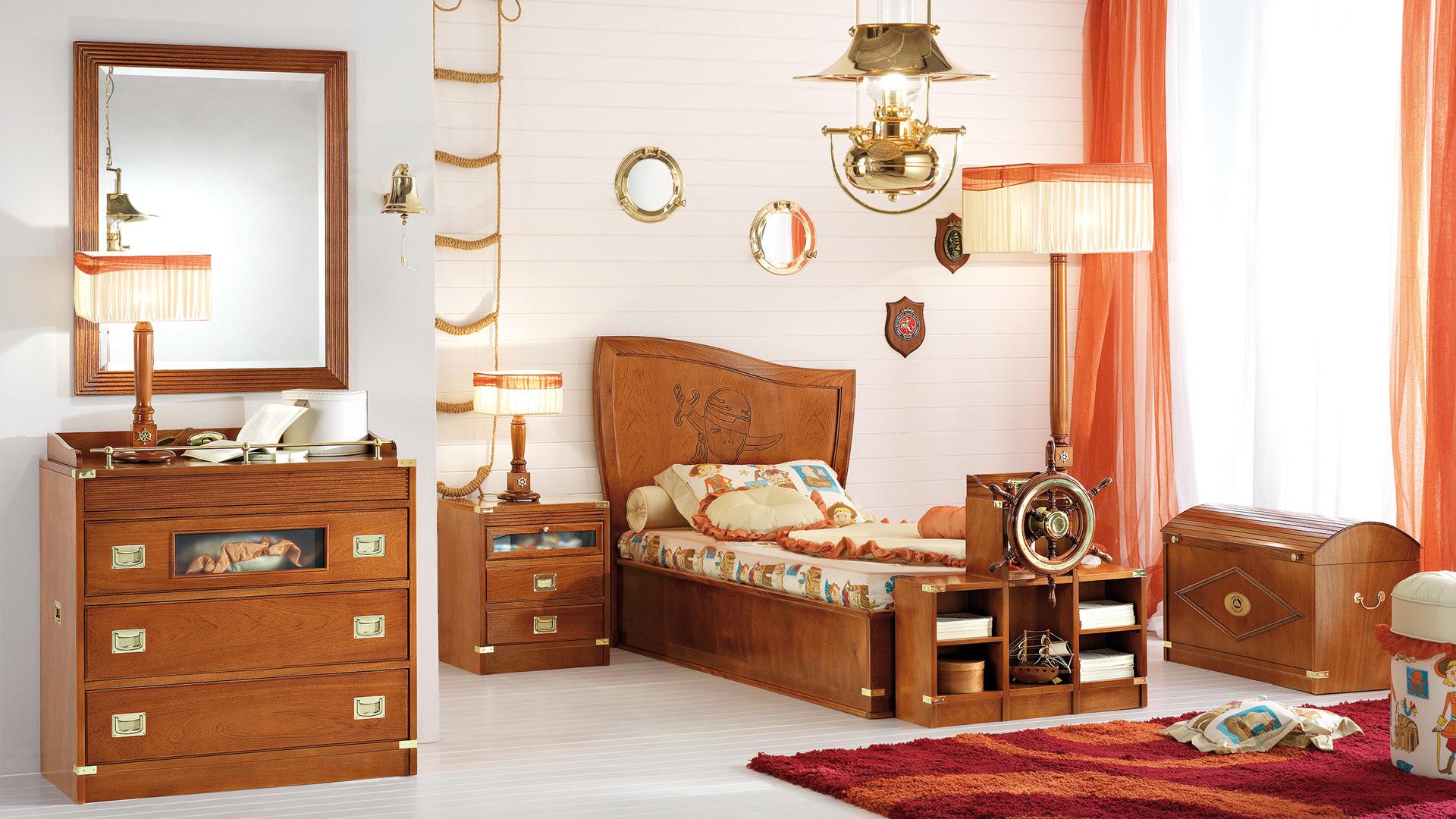 Дизайн штор для детской комнаты оранжевый