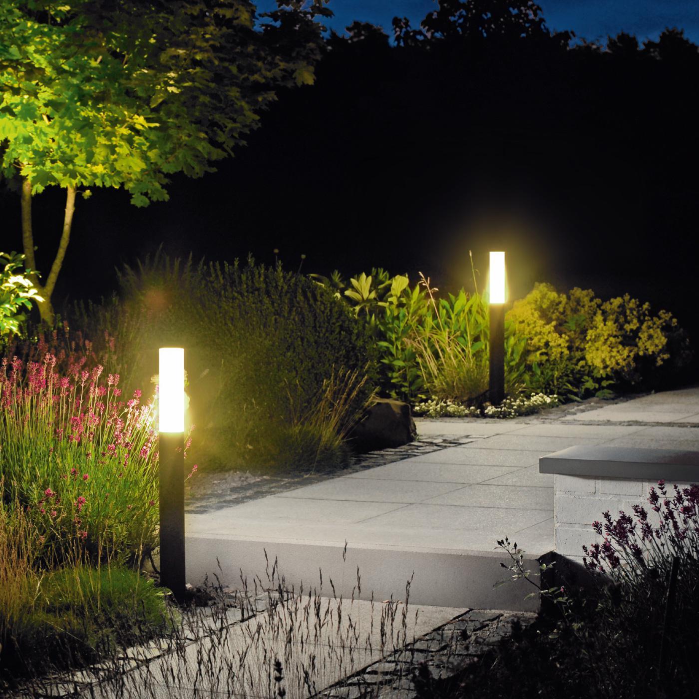 Красивые яркие фонари для сада