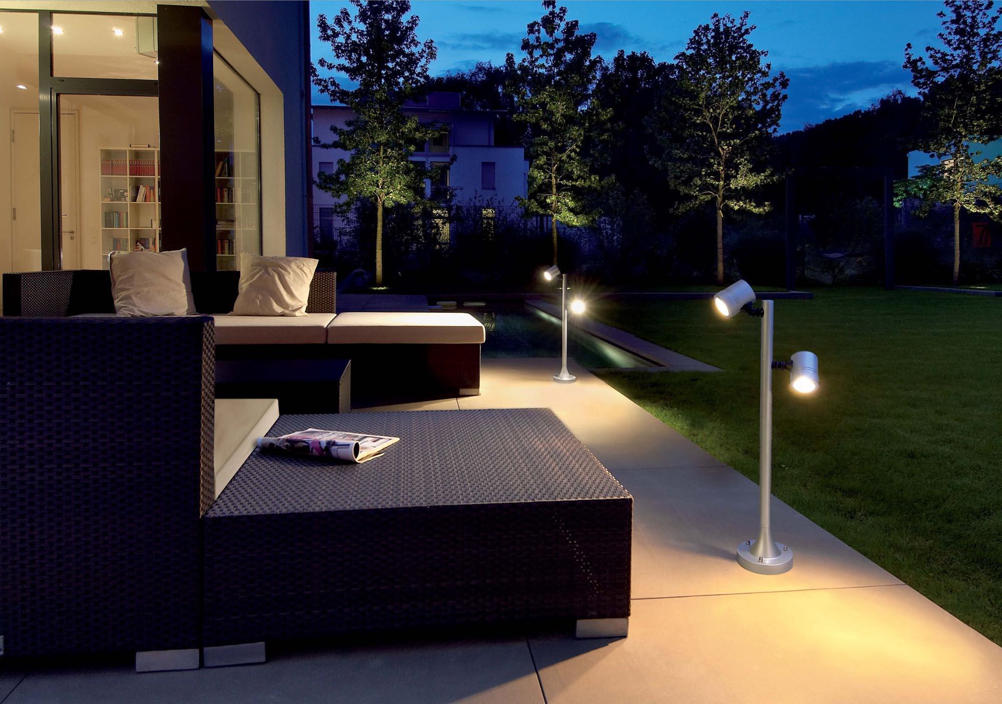 Регулируемые светильники для террасы