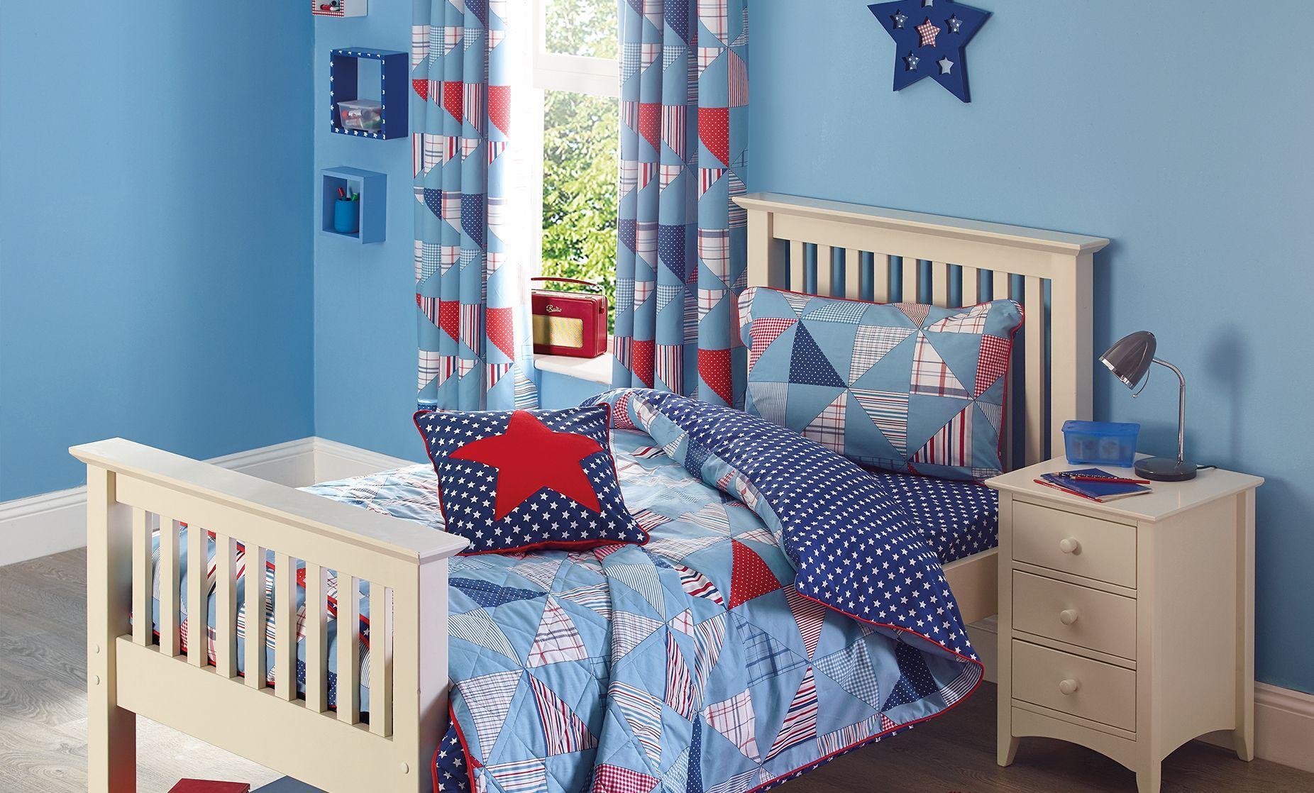 Дизайн штор для детской комнаты пэчворк