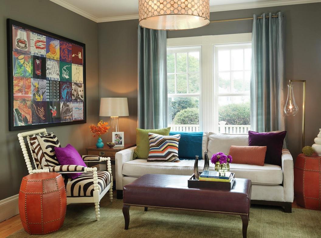 Подушки в современном интерьере квартиры