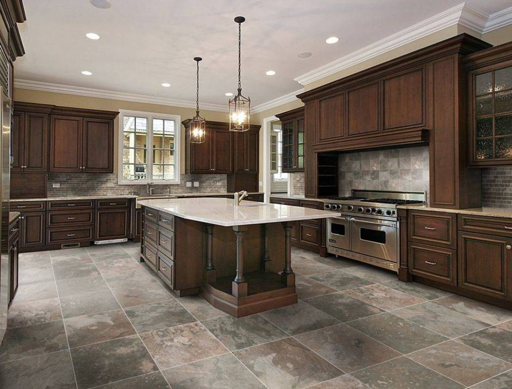 Плитка на кухню на пол
