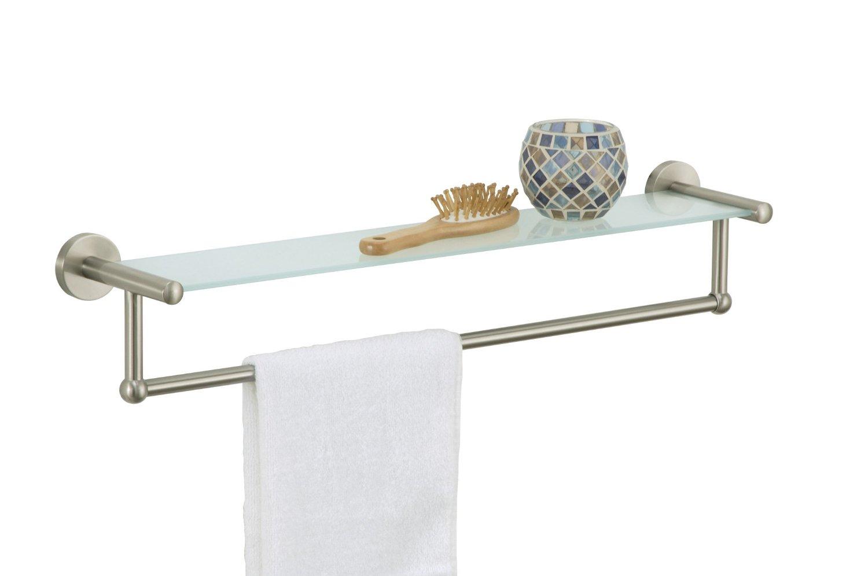 Небольшая полка в ванную с ручкой для полотенца