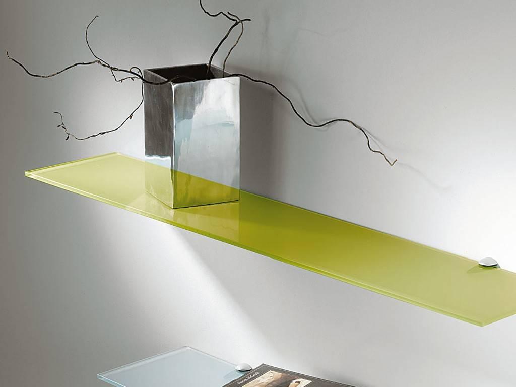 Цветная стеклянная полка под предметы интерьера