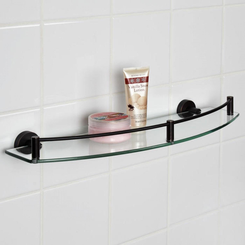 Полка в ванную с бортиком