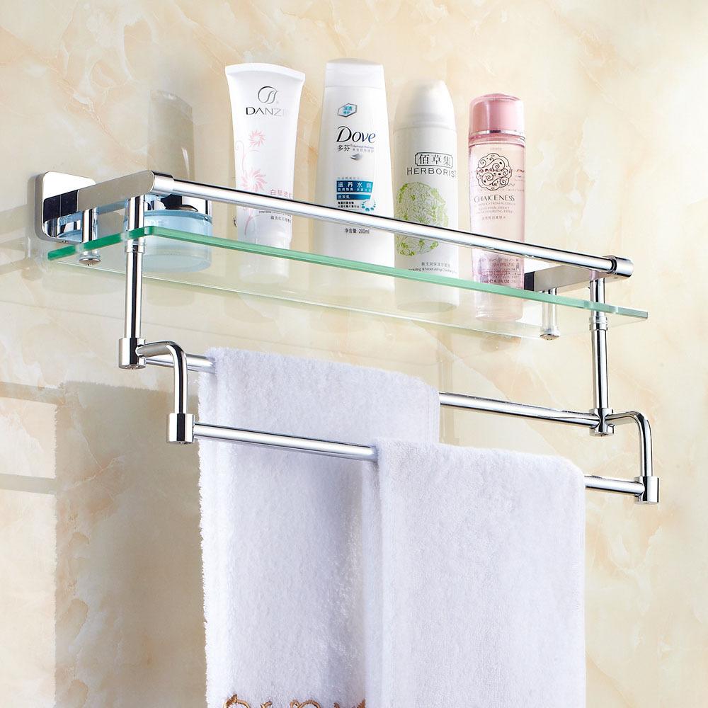Полка для ванной с ручкой для полотенец