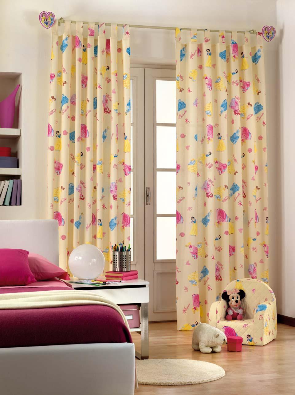 Дизайн штор для детской комнаты с принцессами