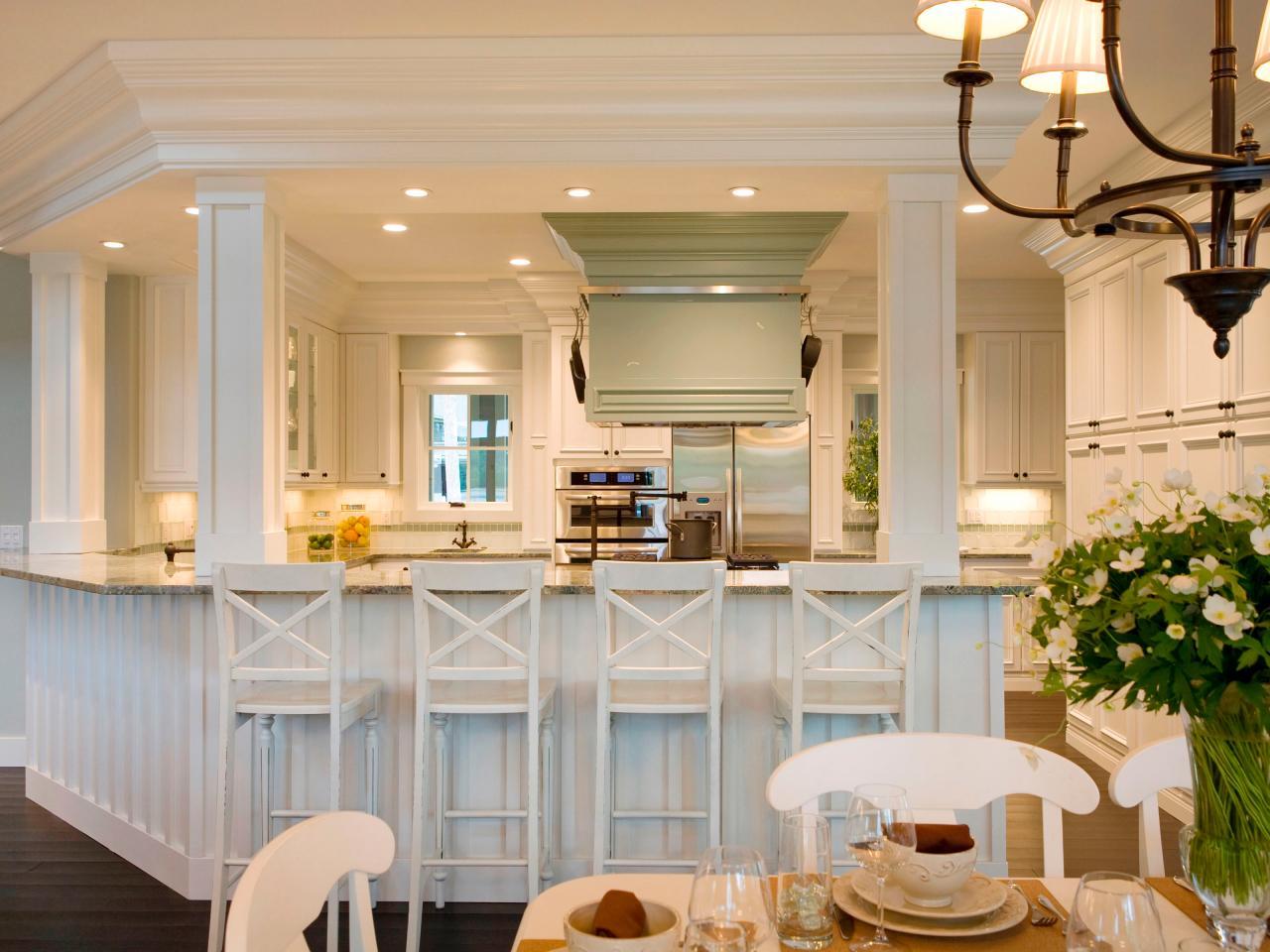 Дизайн кухни с барной стойкой прованс