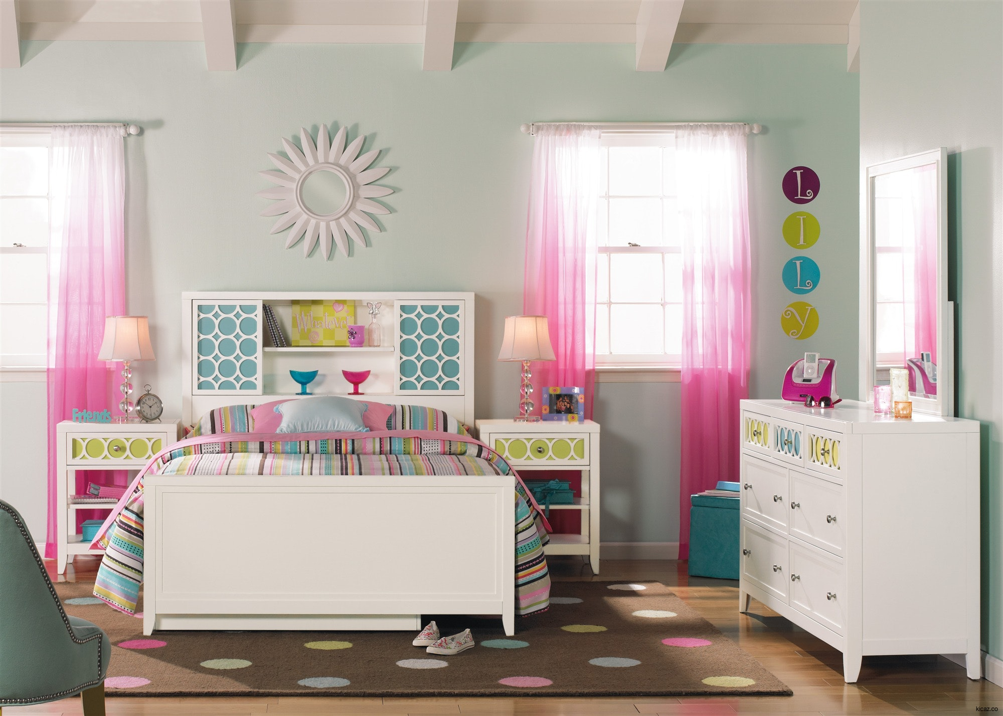Дизайн штор для детской комнаты прозрачные