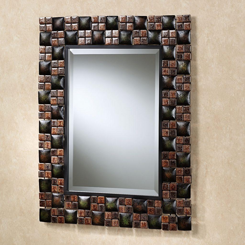 Украшение рамки зеркала мозаикой