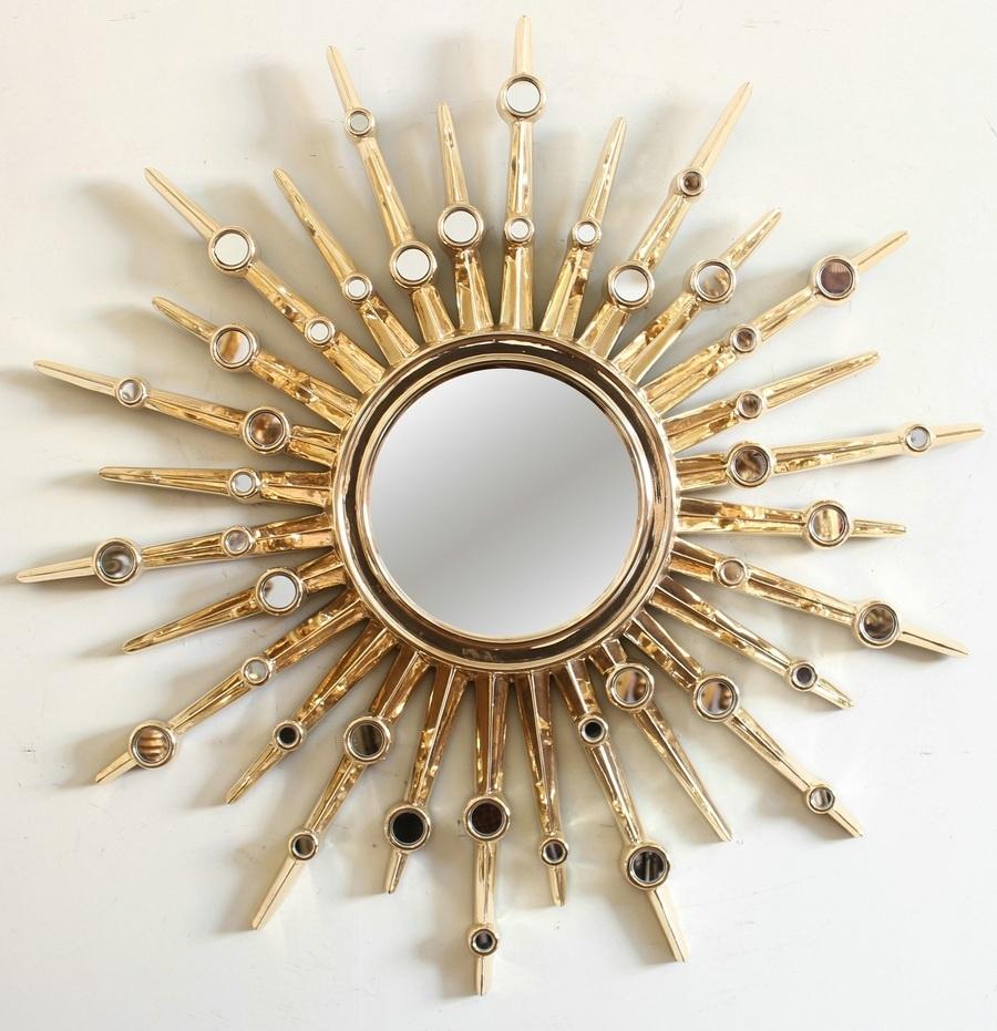 Красивая металлическая рамка для круглого зеркала