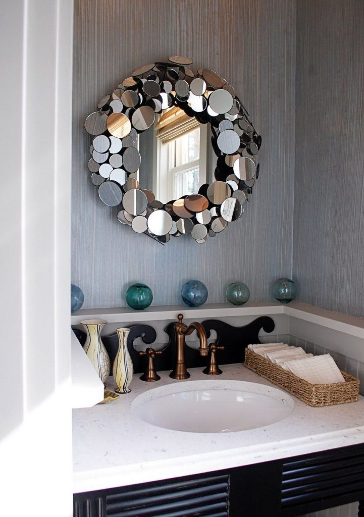 Оригинальное зеркальное украшение рамки