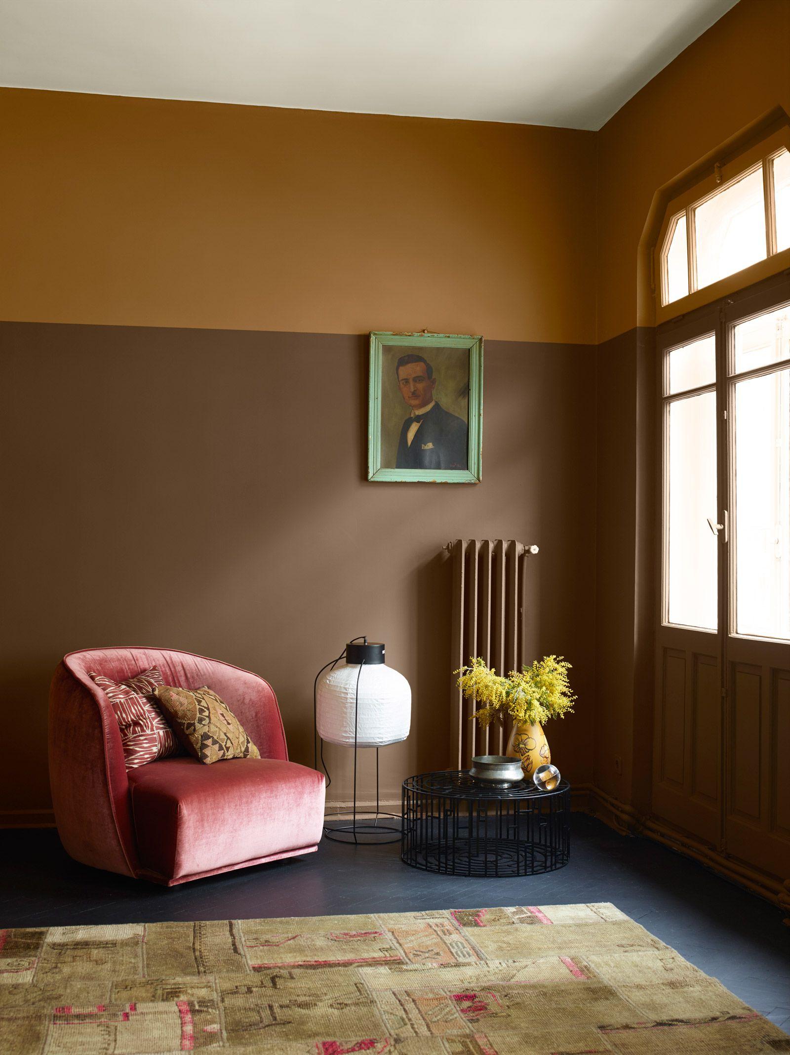 Сочетание коричневого цвета с розовым в интерьере