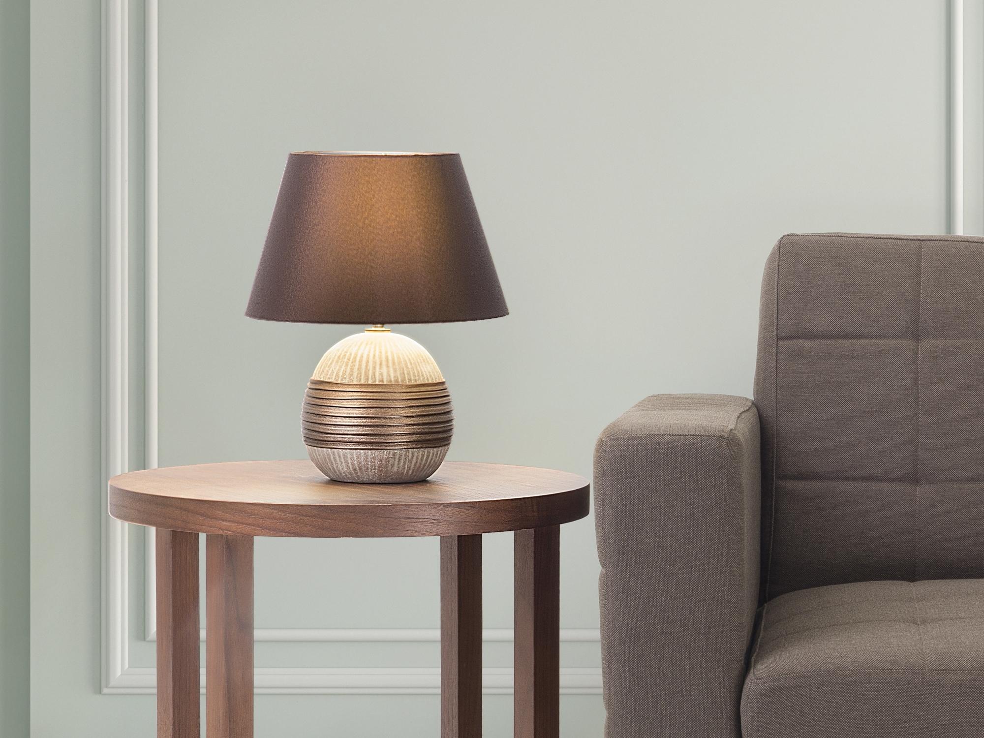Прикроватный светильник серый
