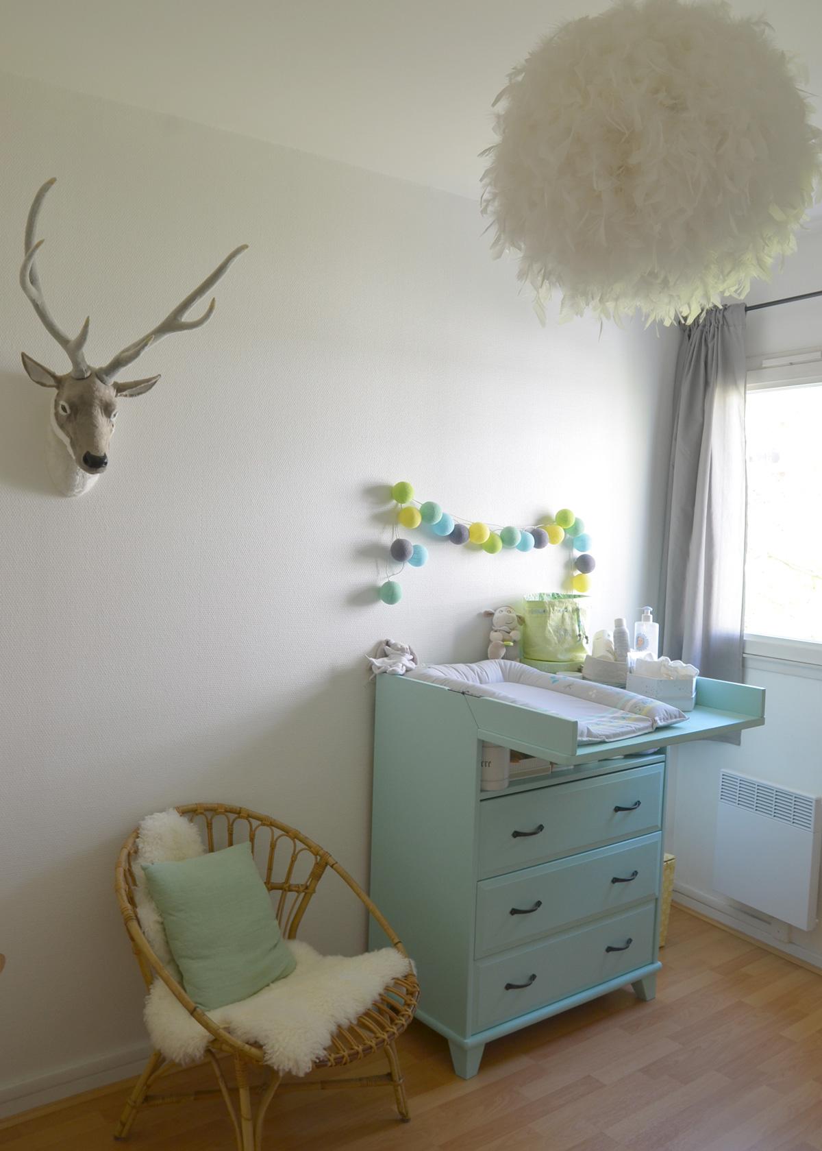 Дизайн штор для детской комнаты серый