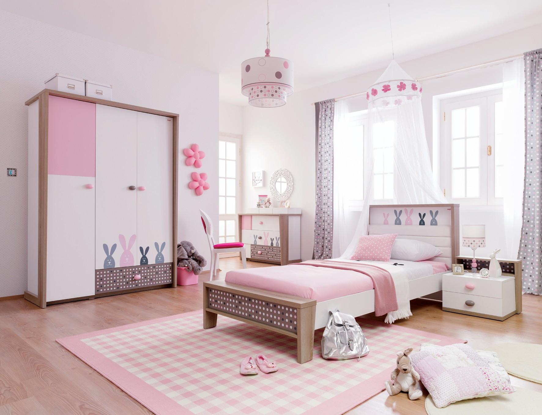Дизайн штор для детской комнаты серых в горошек