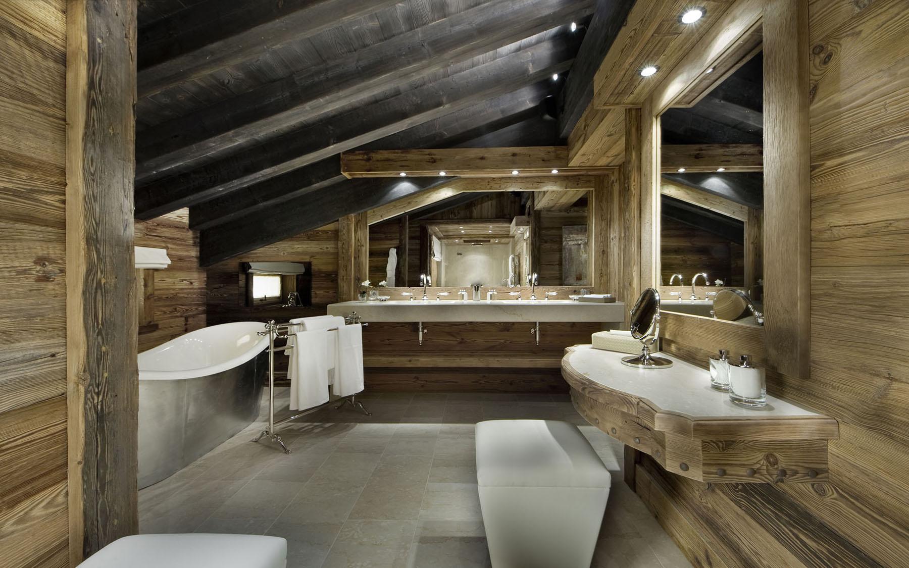 Ванная в доме шале