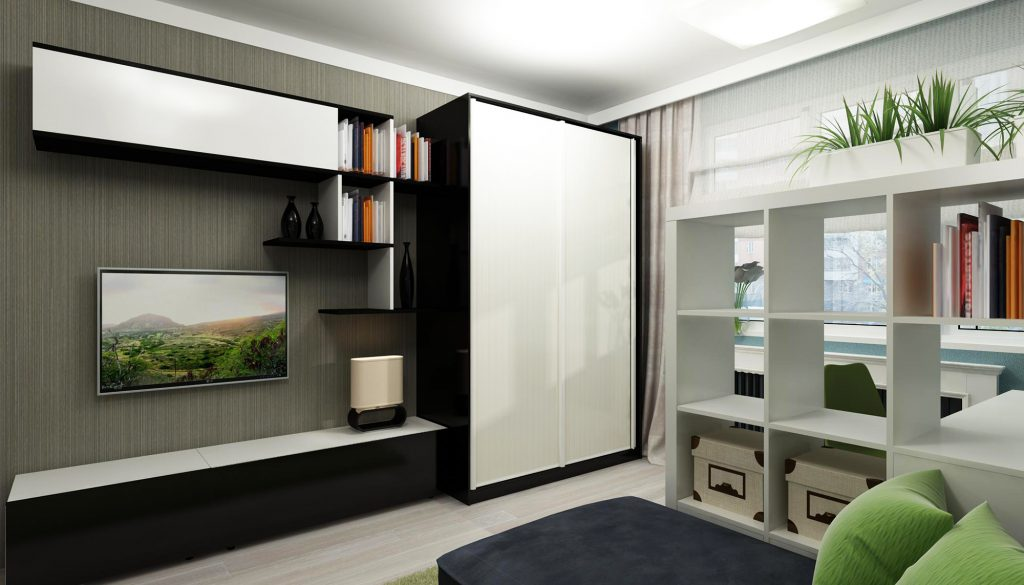 Небольшой шкаф-купе в гостиную