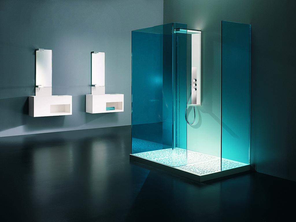 Красивый душ с подсветкой