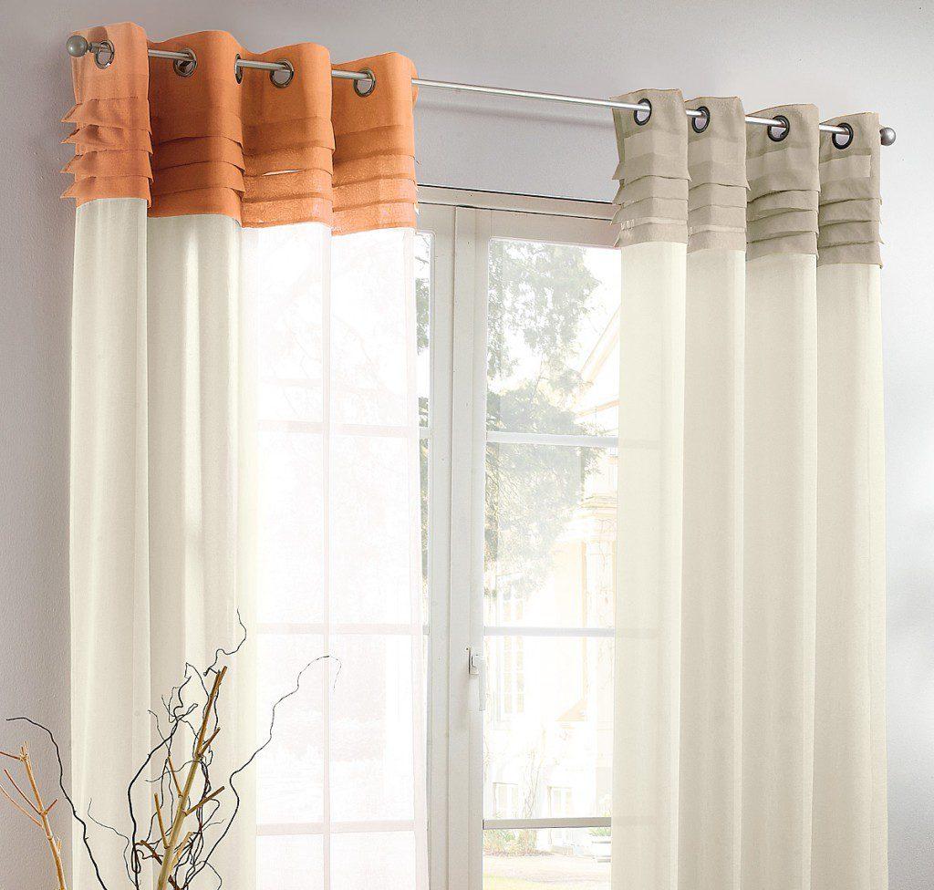 Прозрачные шторы на люверсах в интерьере