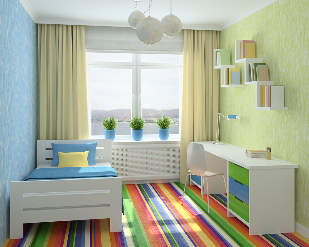Желтые шторы в комнату для мальчика