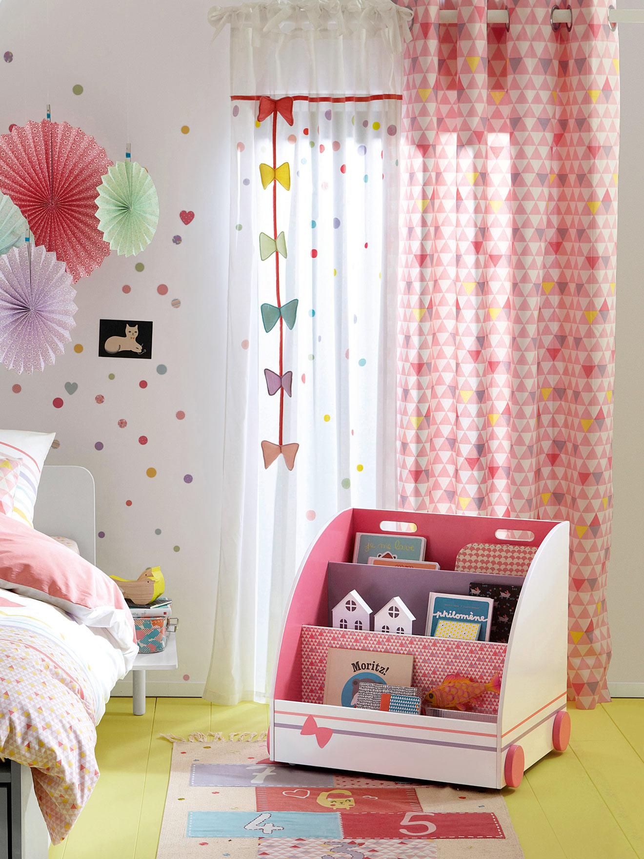 Комбинирование штор в детской комнате