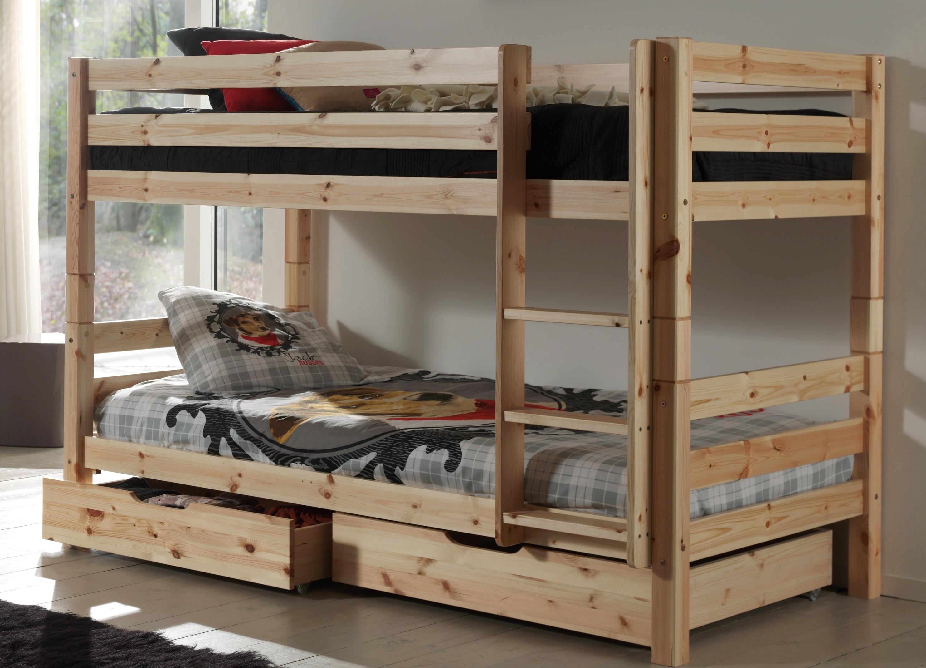 Двухъярусная детская кровать из сосны