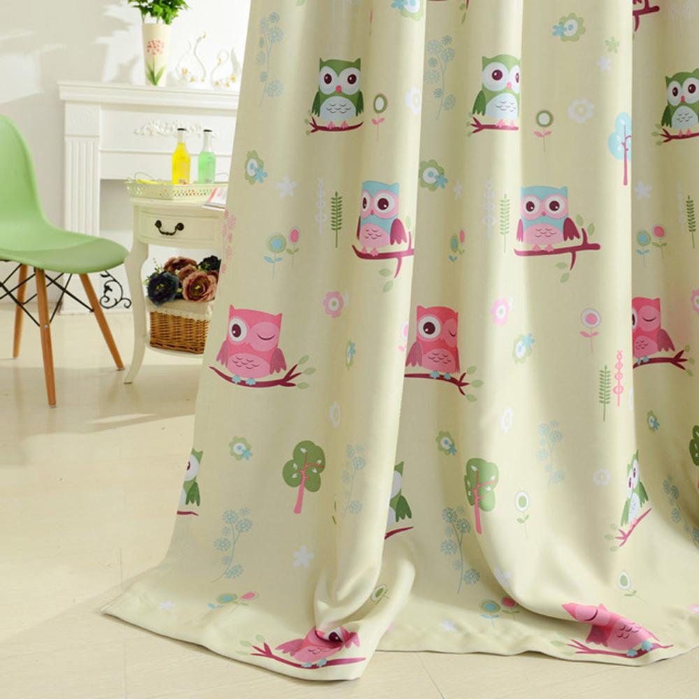 Дизайн штор для детской комнаты с совой