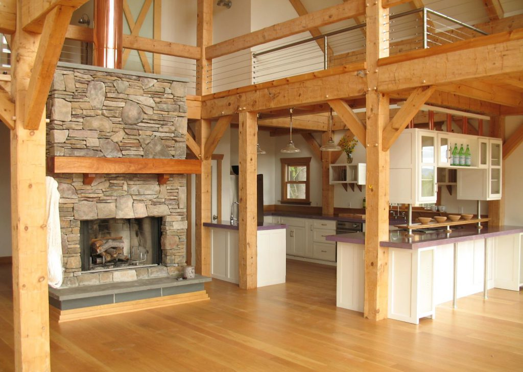 Гостиная и кухня в скандинавском стиле