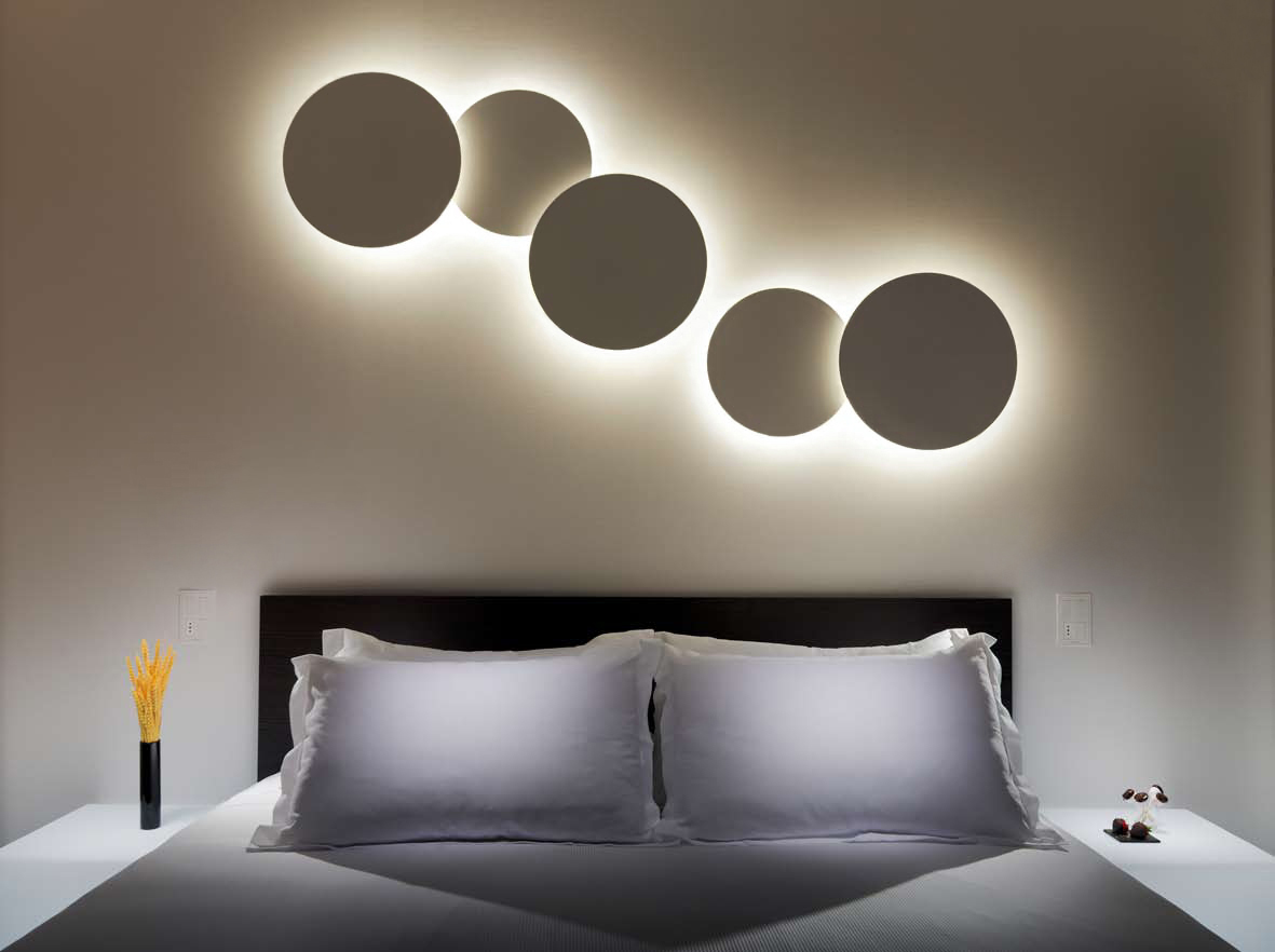 Светильники в спальню с имитацией затмения
