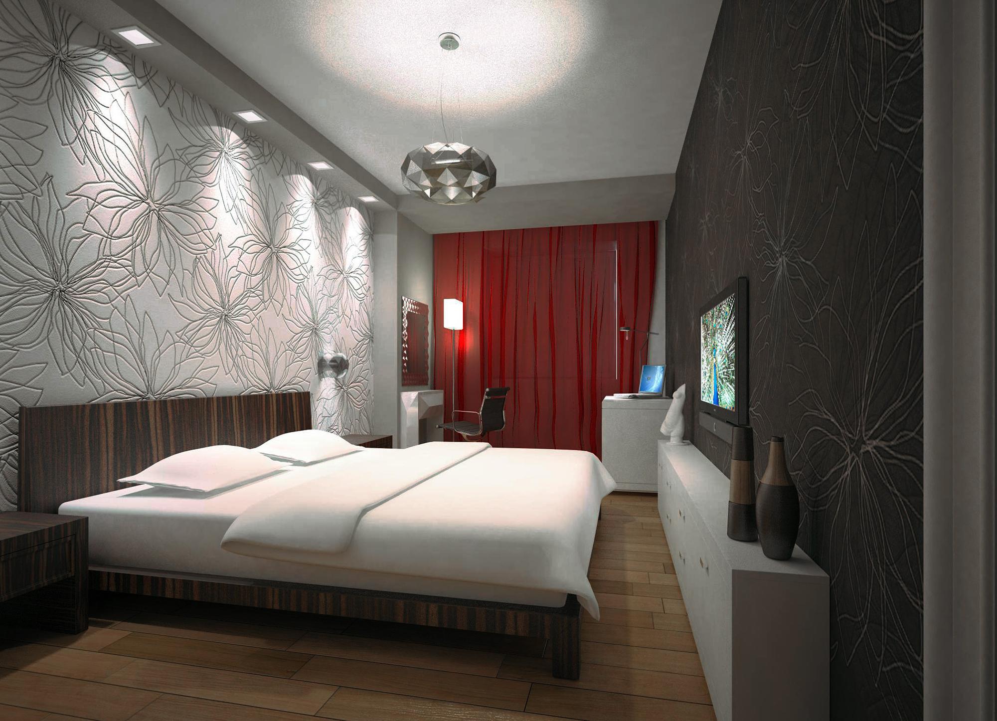 Обилие различного освещения в спальне