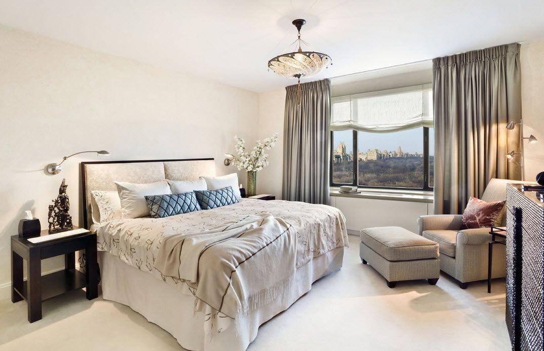 Прикроватные гибкие настенные светильники в спальне