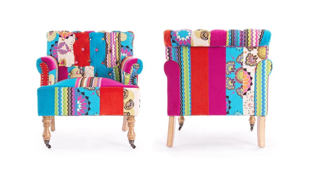 Яркое кресло в стиле бохо