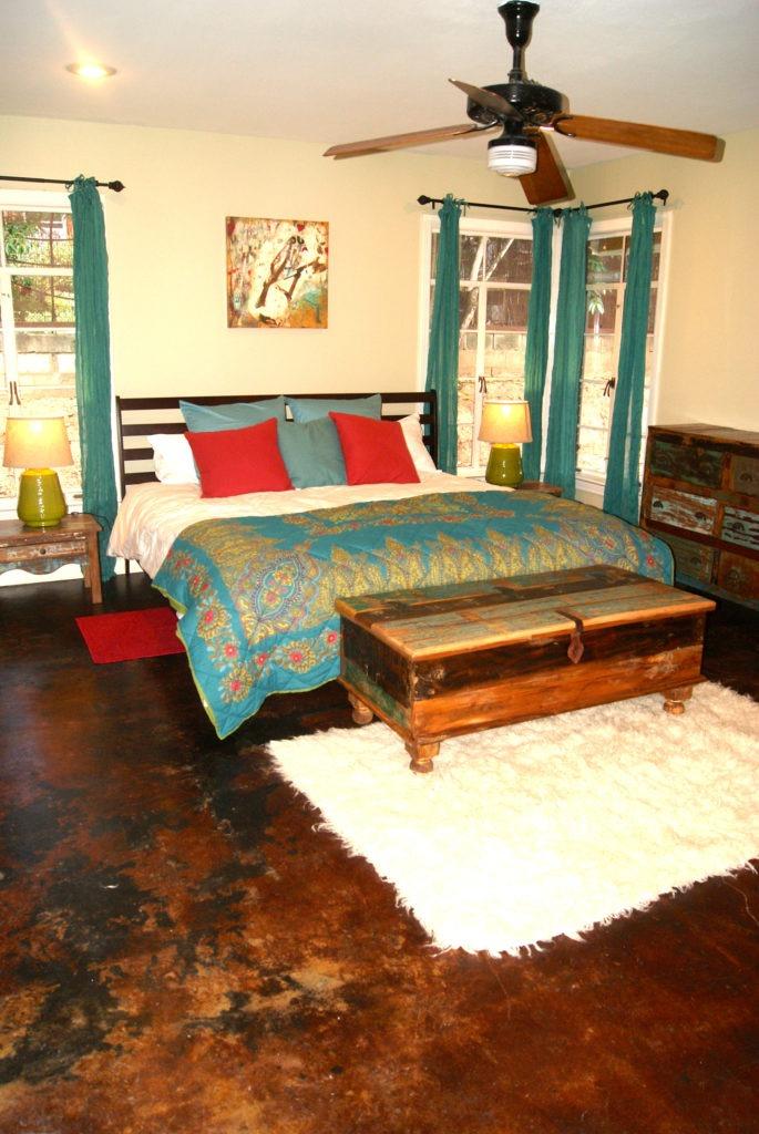 Мебель в спальне в стиле бохо
