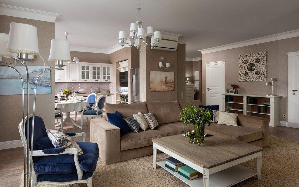 Квартира с ненавязчивыми элементами стиля прованс