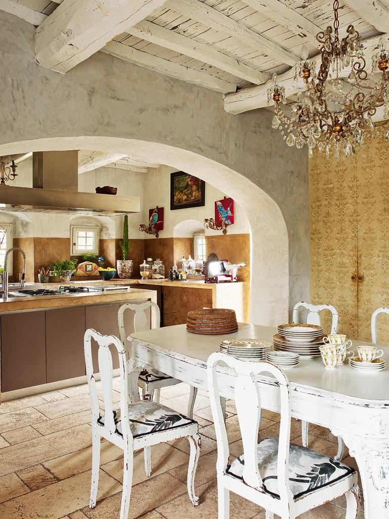 Итальянский стиль в интерьере столовой