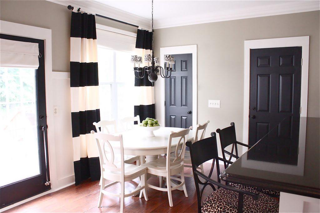 Черные двери на кухню