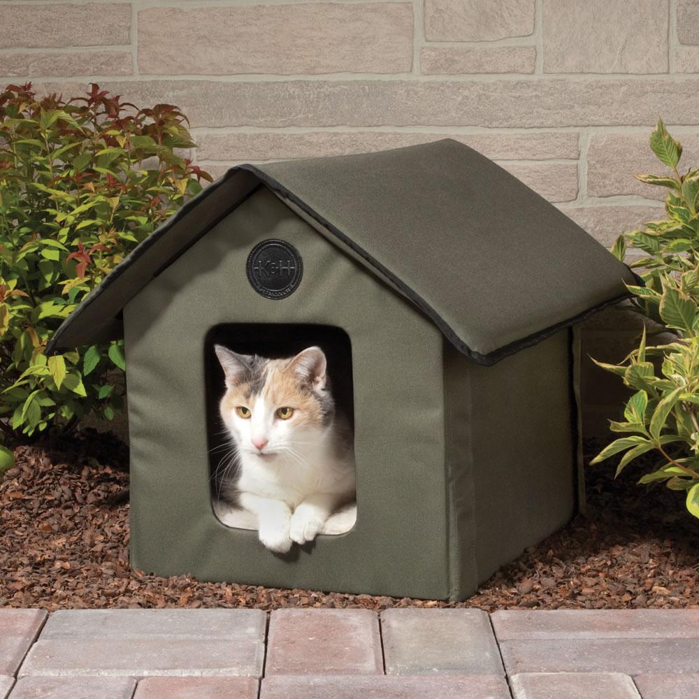 Домик для кошки тканевый