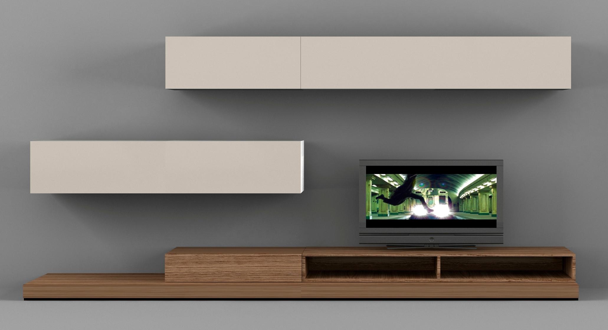 Интерьер в стиле минимализм с телевизором