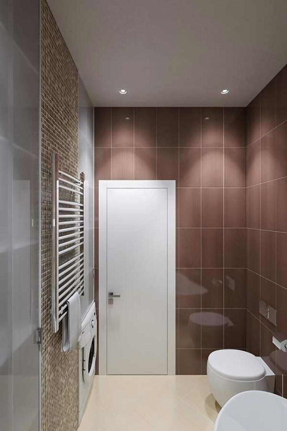 Сочетание коричневого цвета в ванной