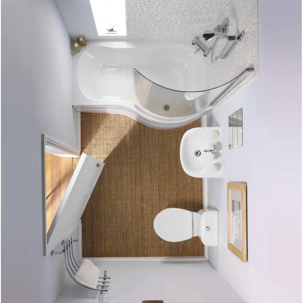 План небольшой ванной комнаты с ванной-душем