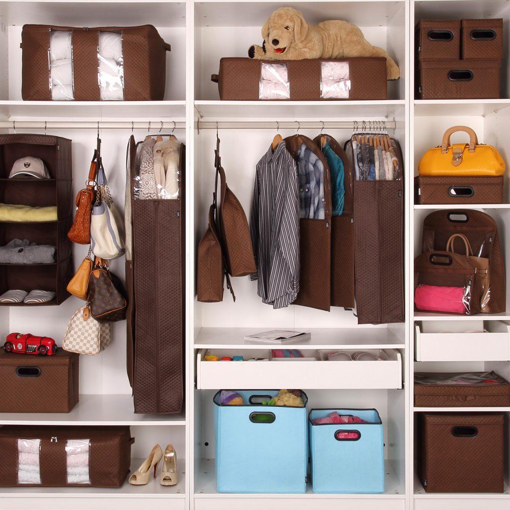 Удобные корзины для хранения вещей и обуви