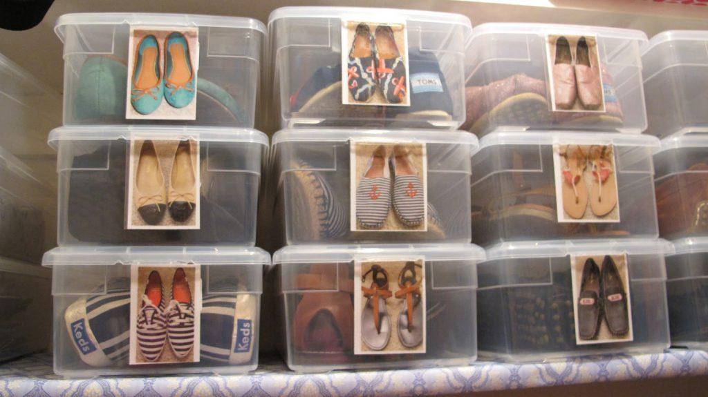 Прозрачные коробки с изображением обуви