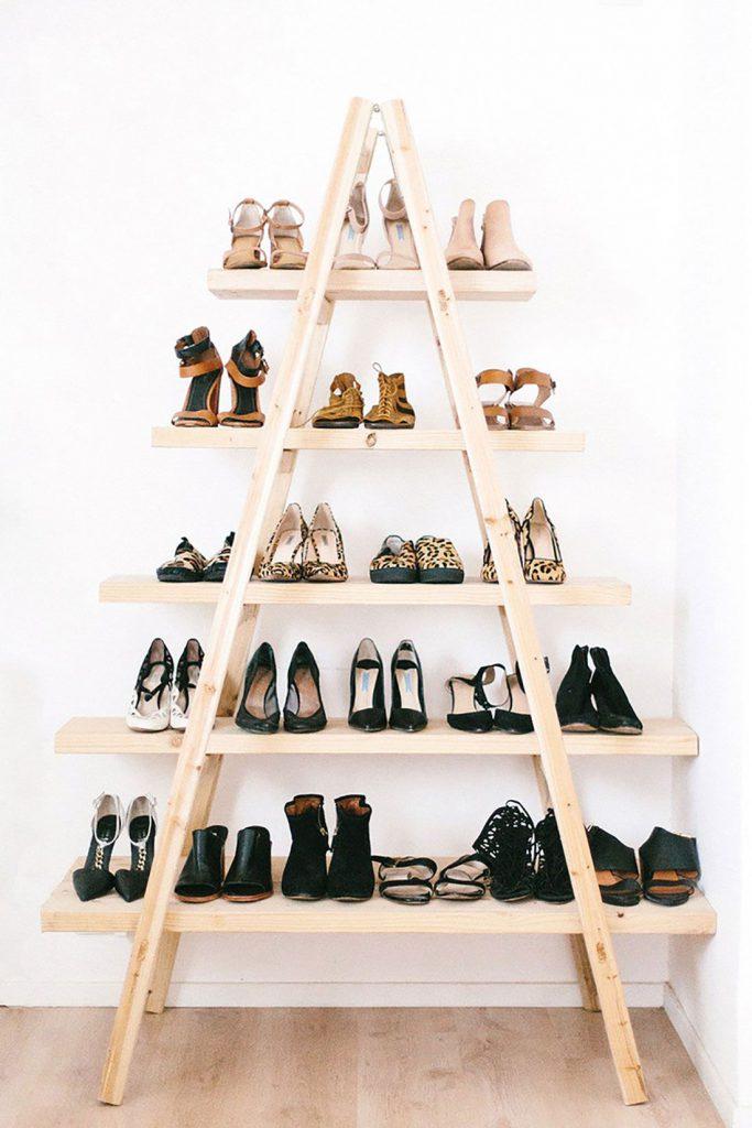 Полки для обуви в форме лестницы