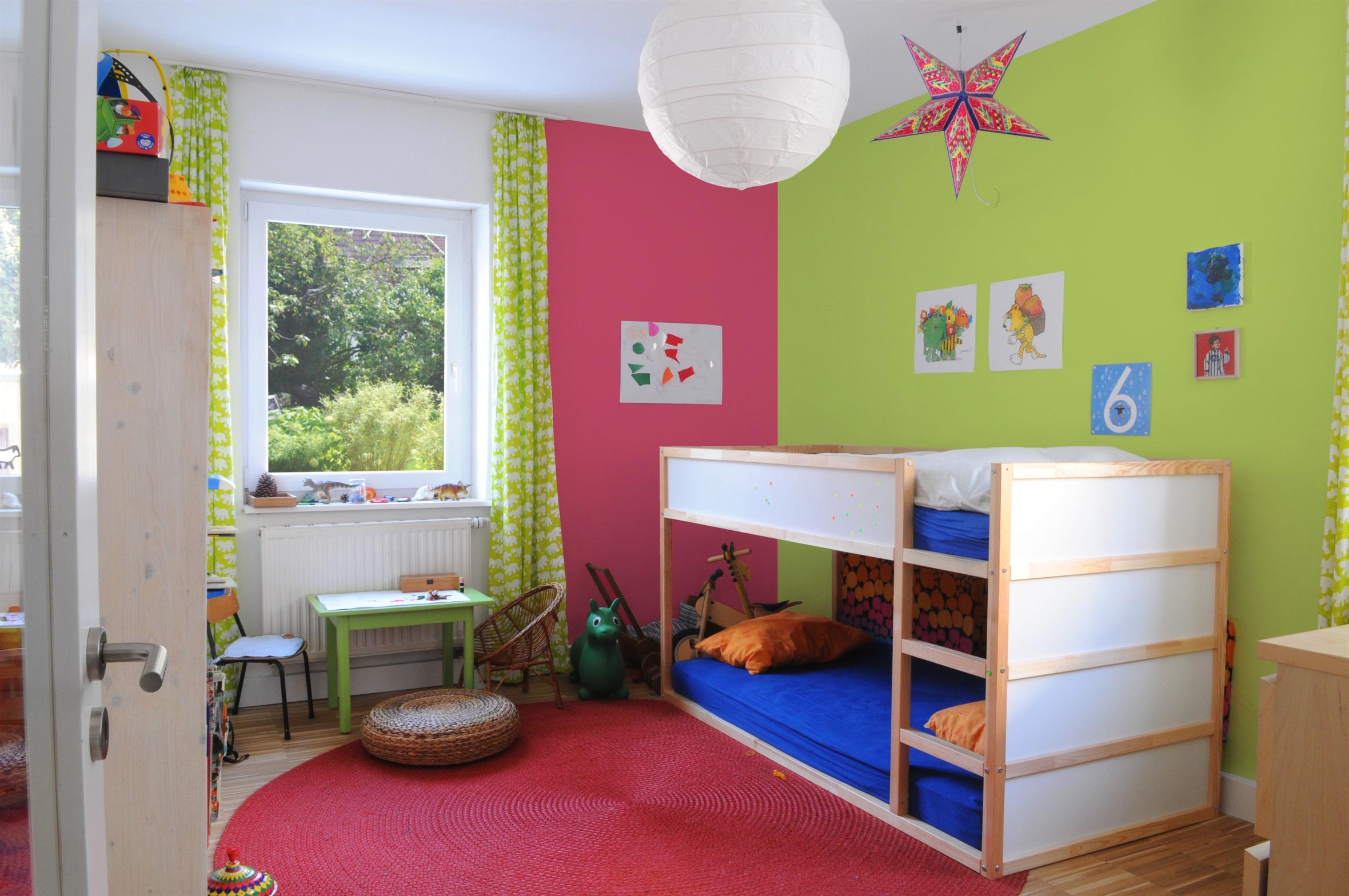 Дизайн штор для детской комнаты зеленый