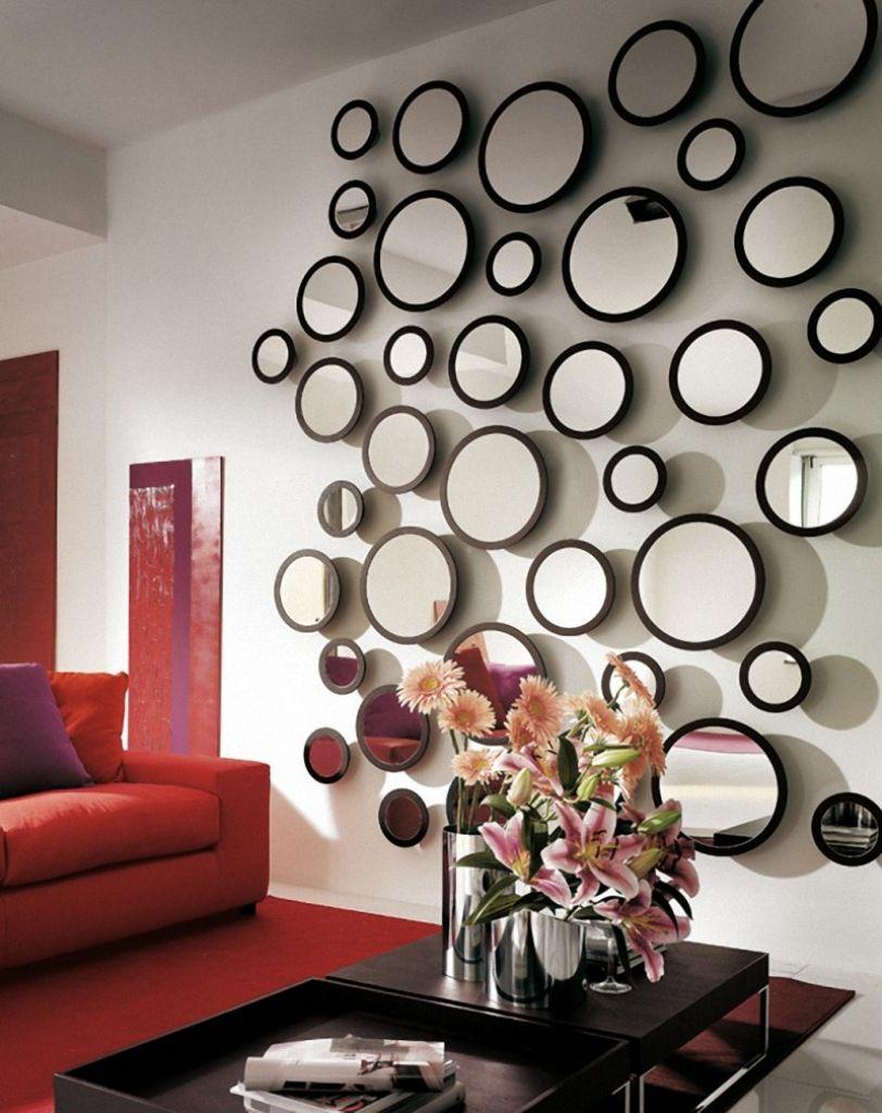 Стена из круглых зеркал