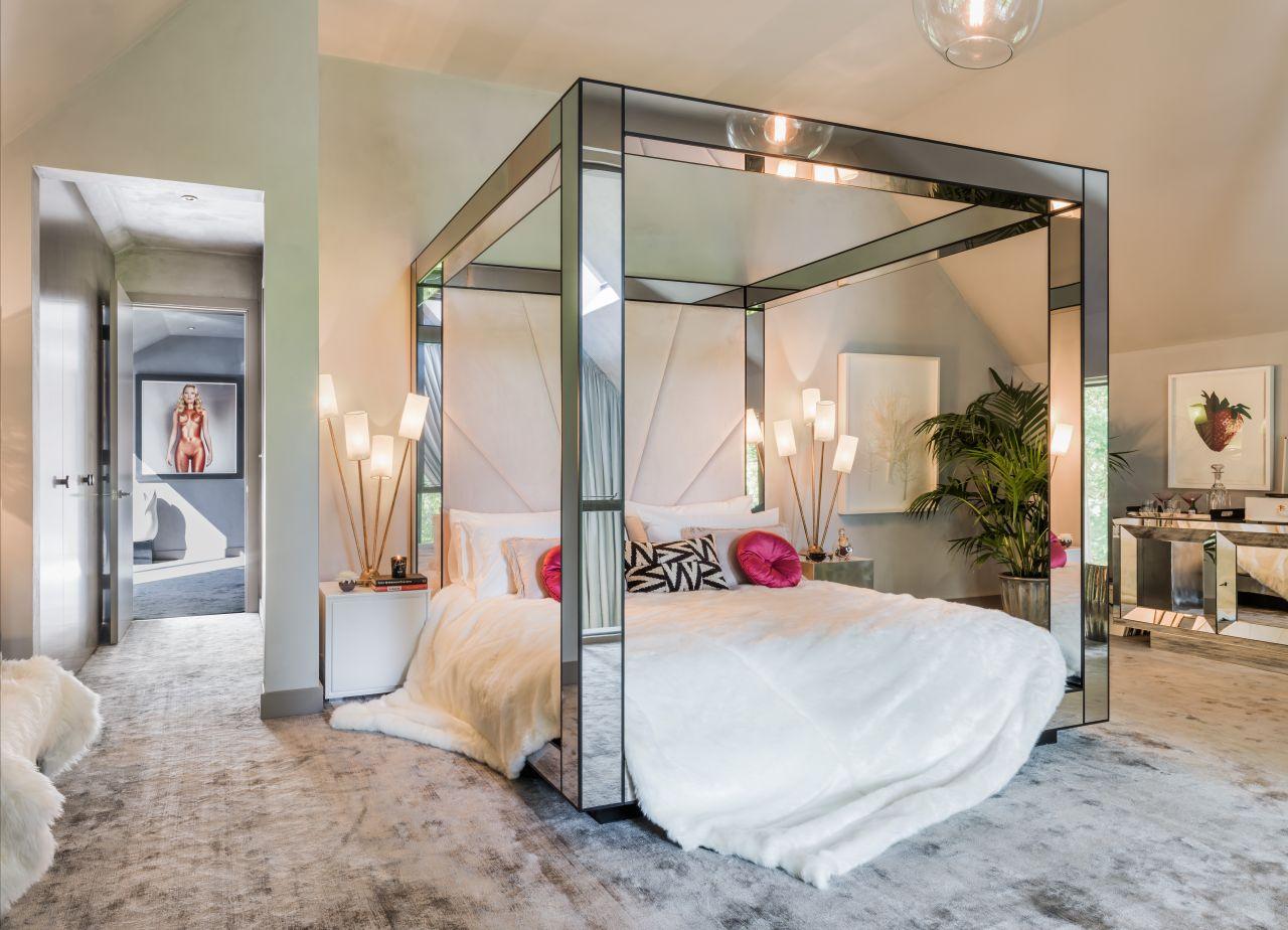 Балдахин над кроватью зеркальный