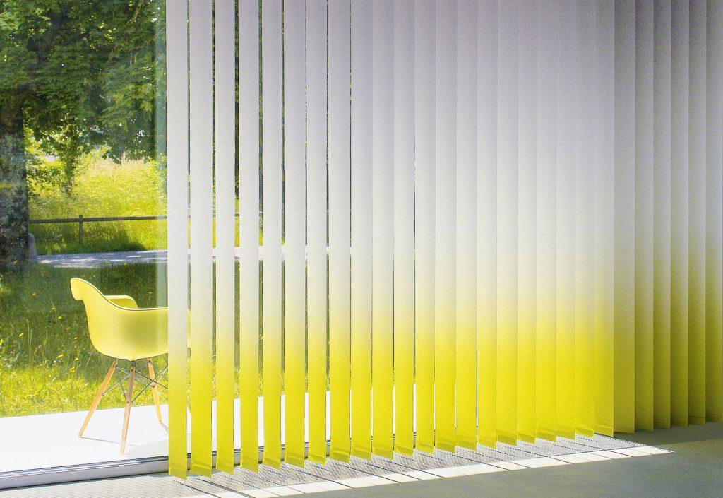 Желто-белые градиентные жалюзи