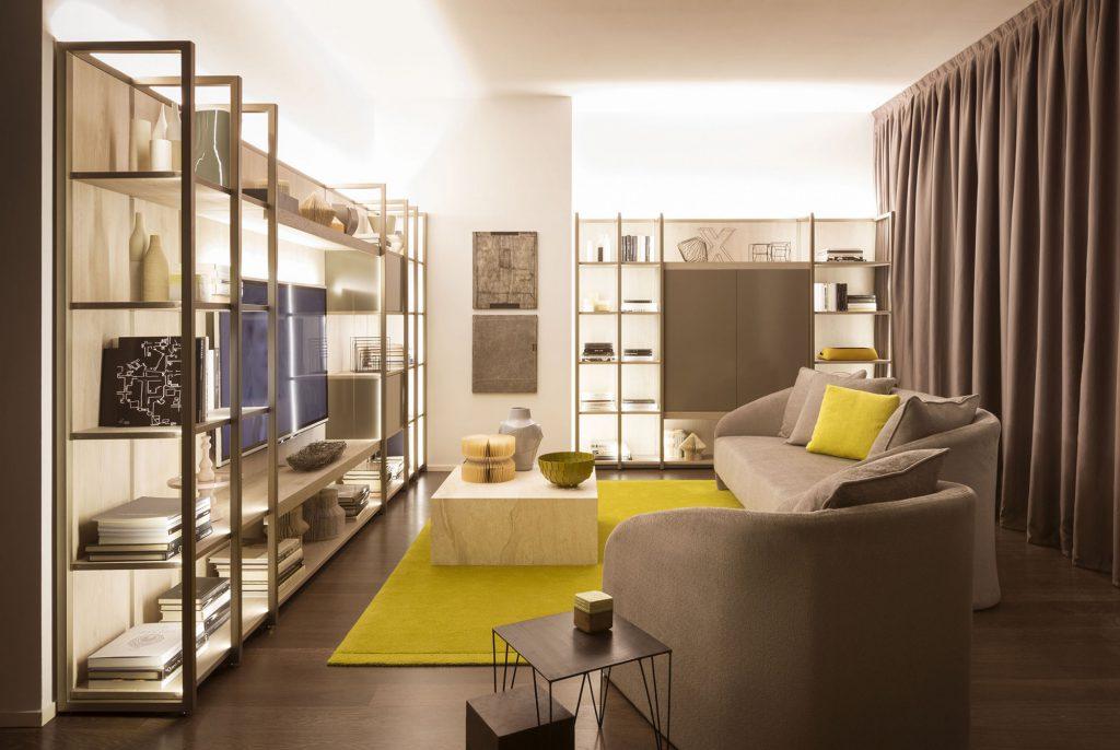 Серо-желтая гостиная